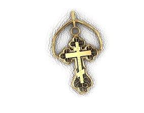 Krest-cross 3D printable model jewelry