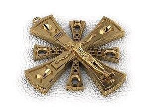 religion 3D print model Krest-cross