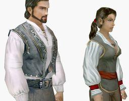 Pirate Girl and man 3D asset