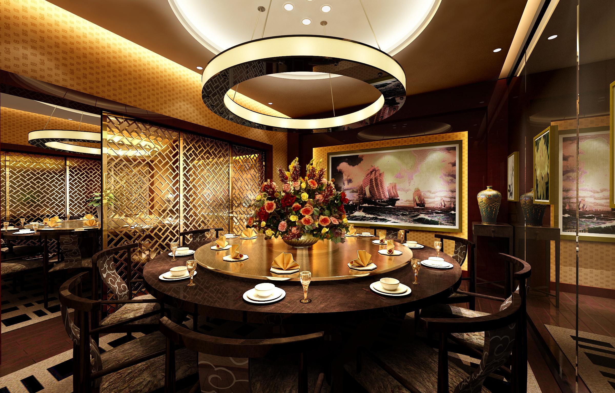 Restaurant Dining Room 3D Model MAX CGTrader Com