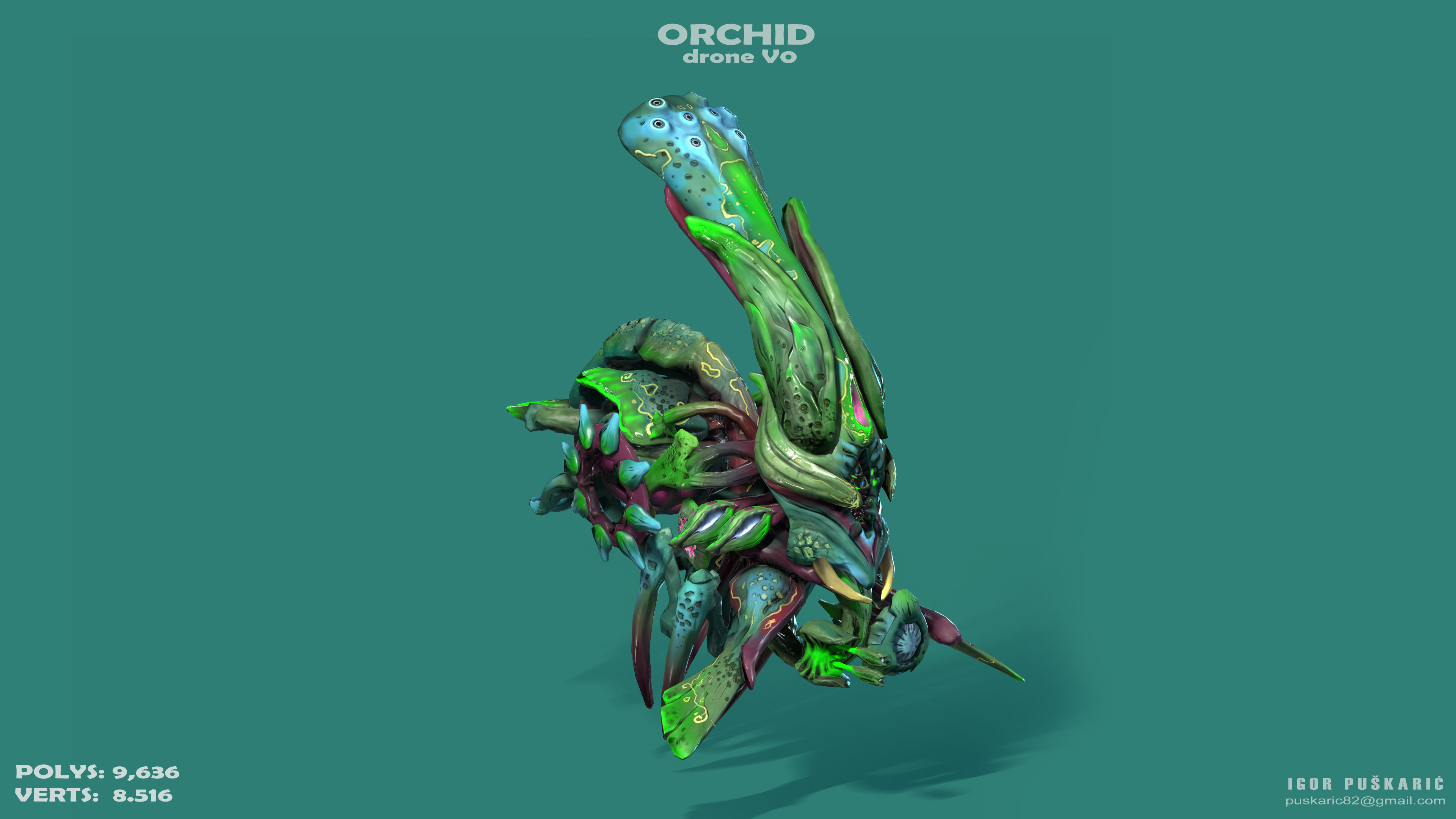 Orchid Drone V0 - PBR - ANIMATED