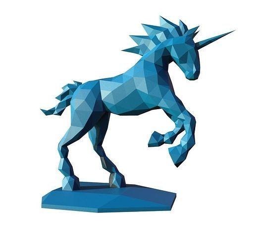 unicorn low poly pepakura