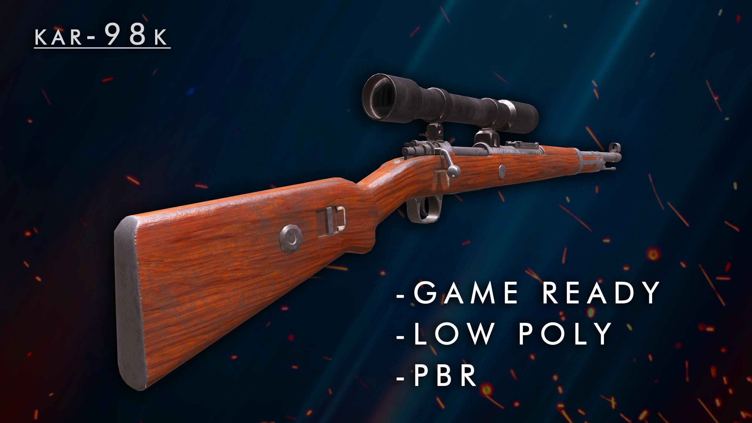 Kar98 low poly sniper rifle