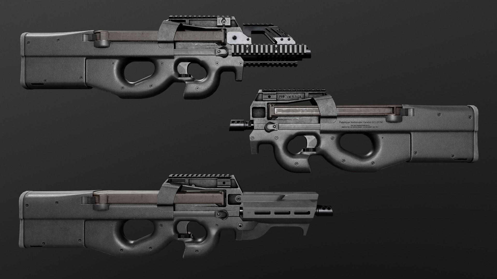 FN P90 Sub Machine Gun