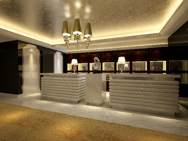Foyer Hotel Jobs : Bright foyer d cgtrader