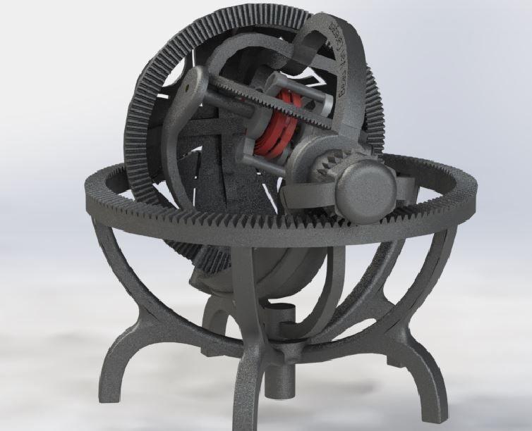 Gyroscope tourbillon - mechanical precision time machine