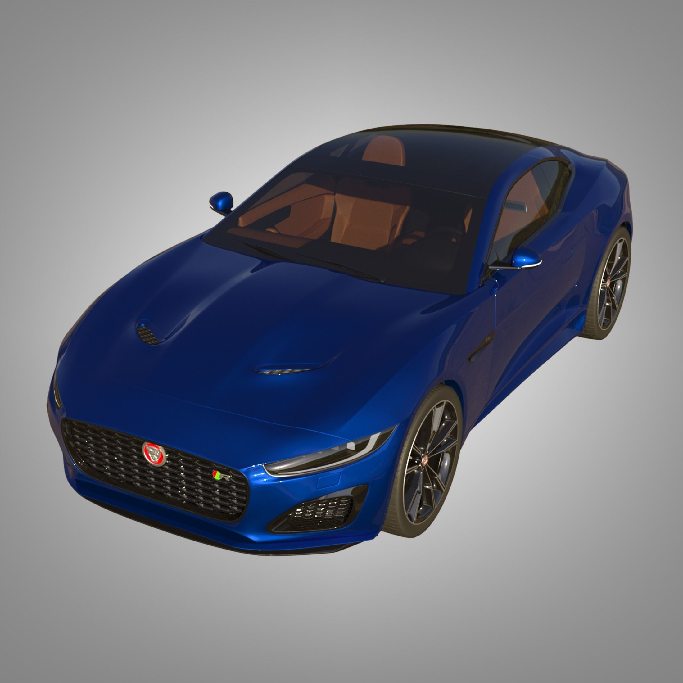 3D model cars Jaguar F-Type R Coupe 2021   CGTrader
