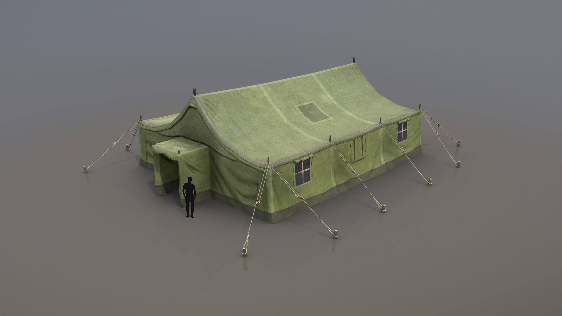 Military Tent 01 Forest