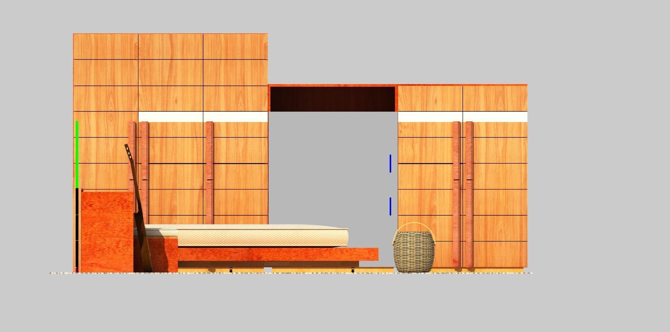 Bedroom Furniture 3d Models 3d model the bedroom furniture vr / ar / low-poly animated 3ds c4d