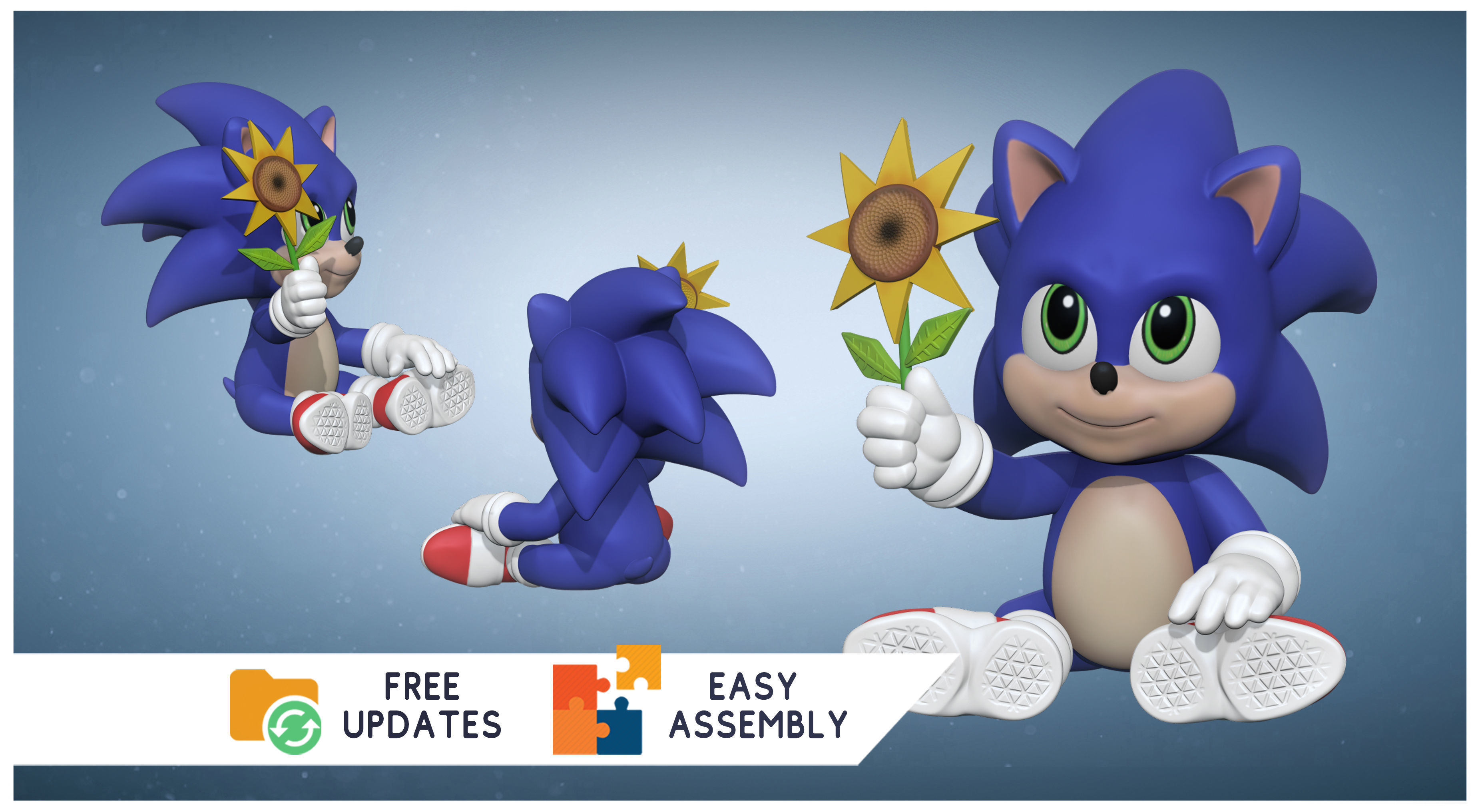 Baby Sonic The Hedgehog 3d Fanart Games Toys