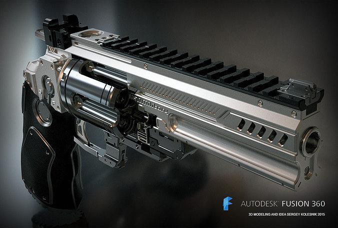 konstantin heavy revolver 3d model stl 1