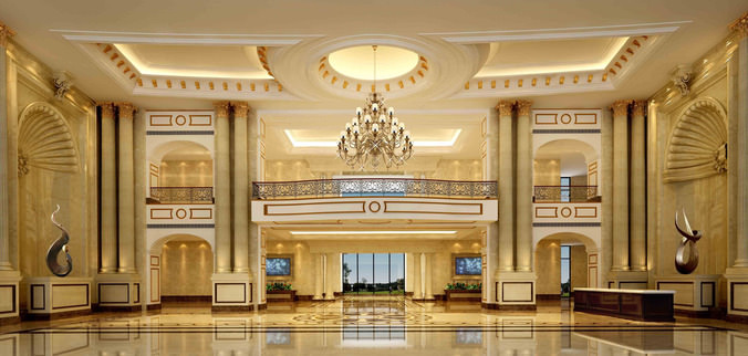 Luxury Lobby 3d Model Max Cgtrader Com