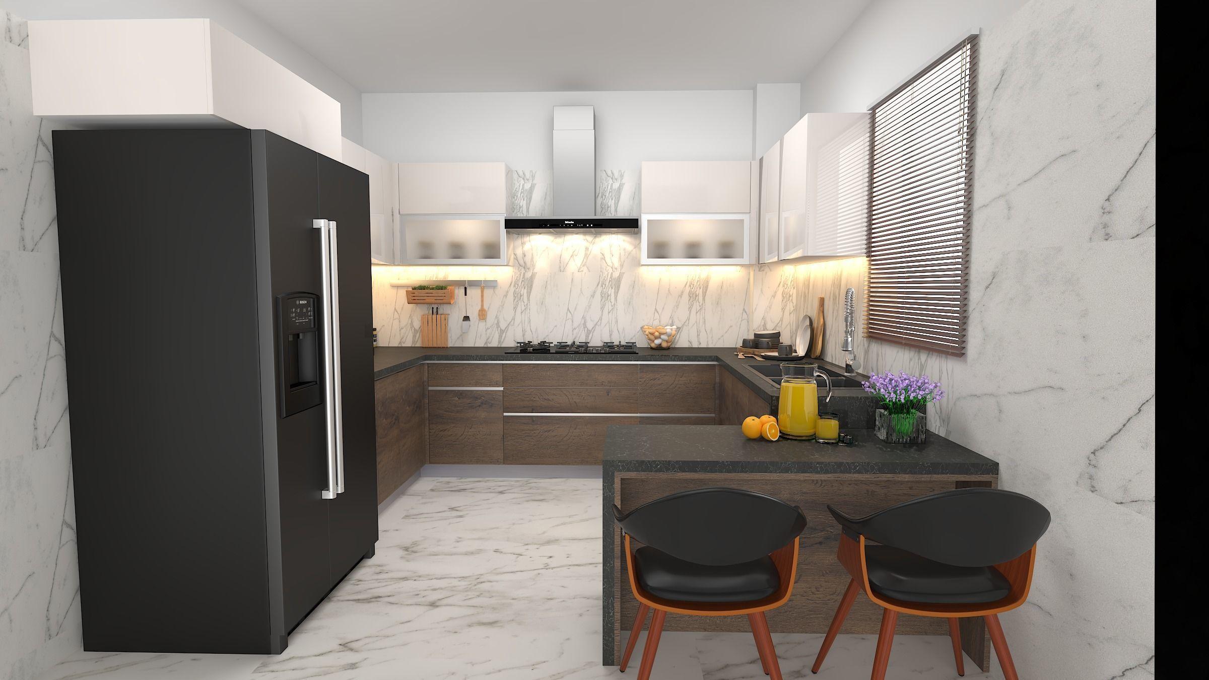 kitchen interior 3d model modular  cgtrader