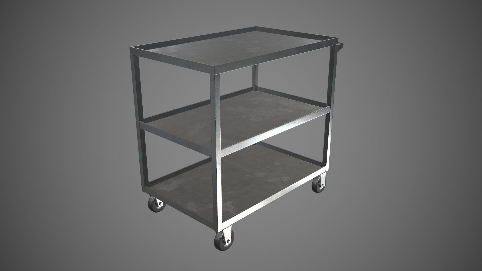 Trolley Stainless Steel PBR Game Ready