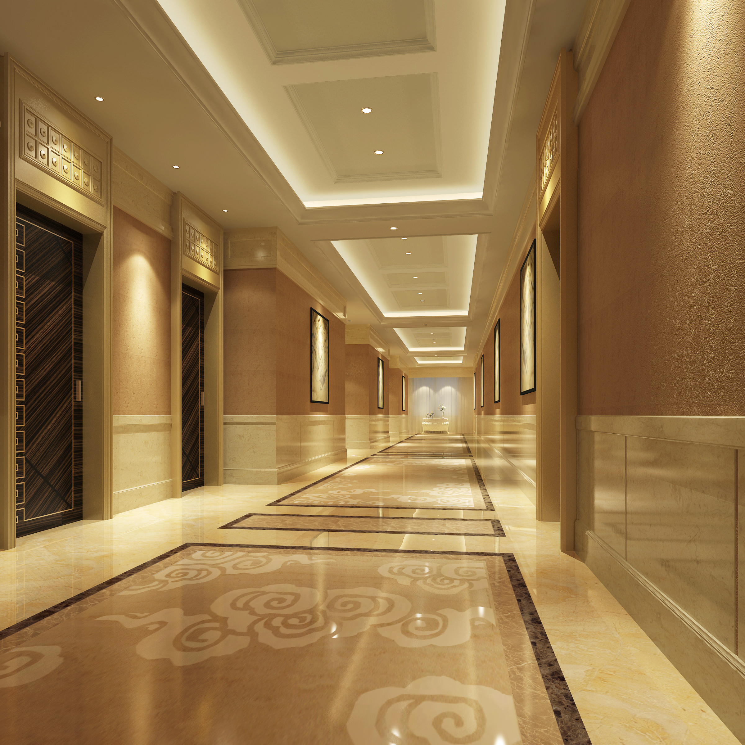 Luxury Corridor 3d Model Max Cgtrader Com