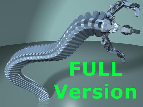 robot mechanic arm - full 3d model rigged ma mb 1