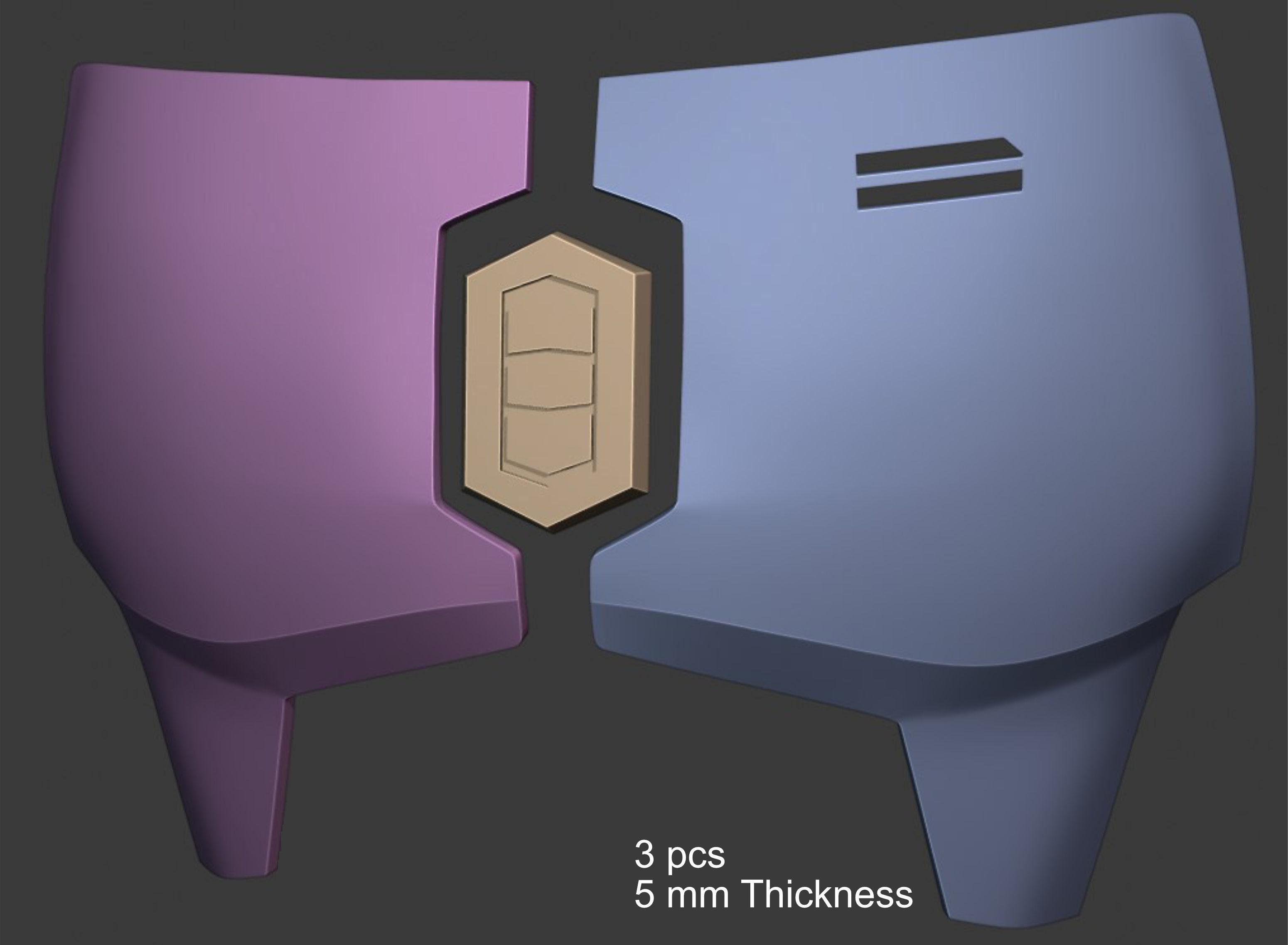 Mandalorian Chest Armor Plates with Center Diamond