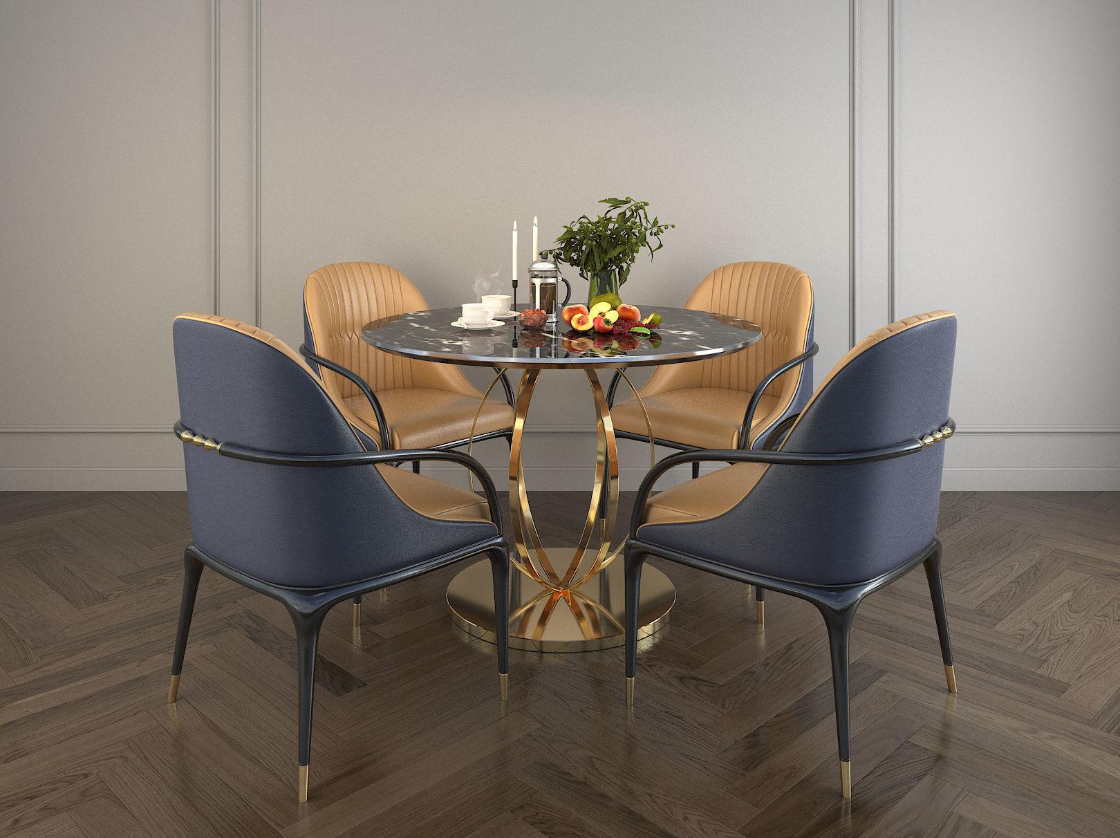 Modern Design Dining Table Set 2