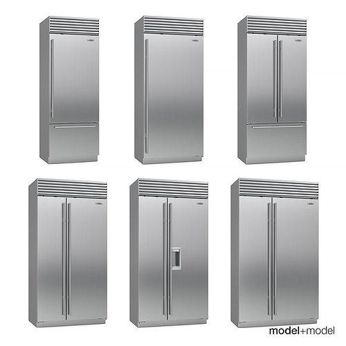 sub-zero fridges 3d model max obj fbx mat 1