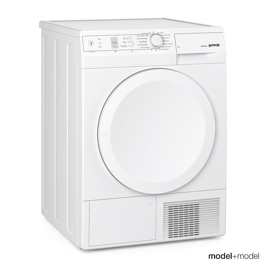 Gorenje Washer And Dryer Model Max Obj Fbx Mat 3