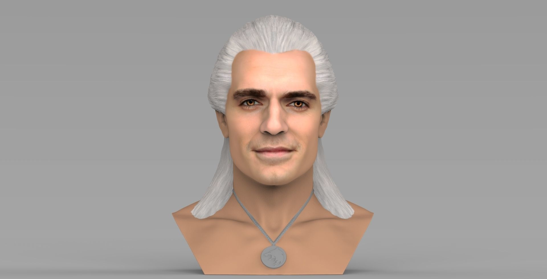 Geralt of Rivia The Witcher Cavill bust full color 3D printing