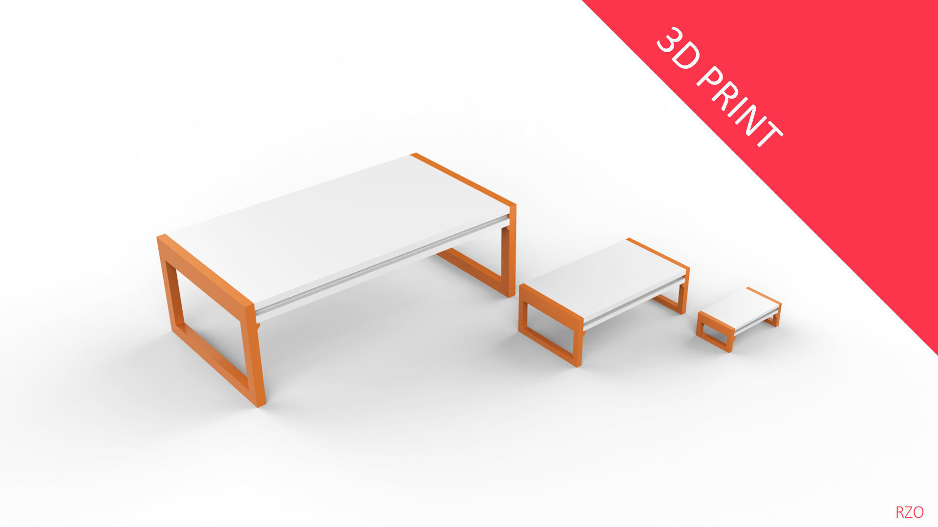Center Table with 3 Different Sizes