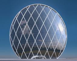 Aldar Headquarters Building 3D asset low-poly