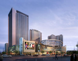 exterior commercial Commercial Plaza 3D