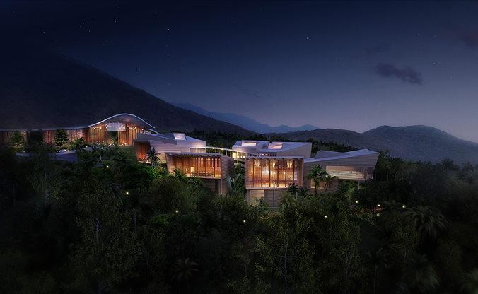 luxury hotel 005 3d model max tga 1
