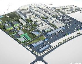 3D asset Industrial Factory