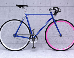 Fixed gear bicycle 3D Model