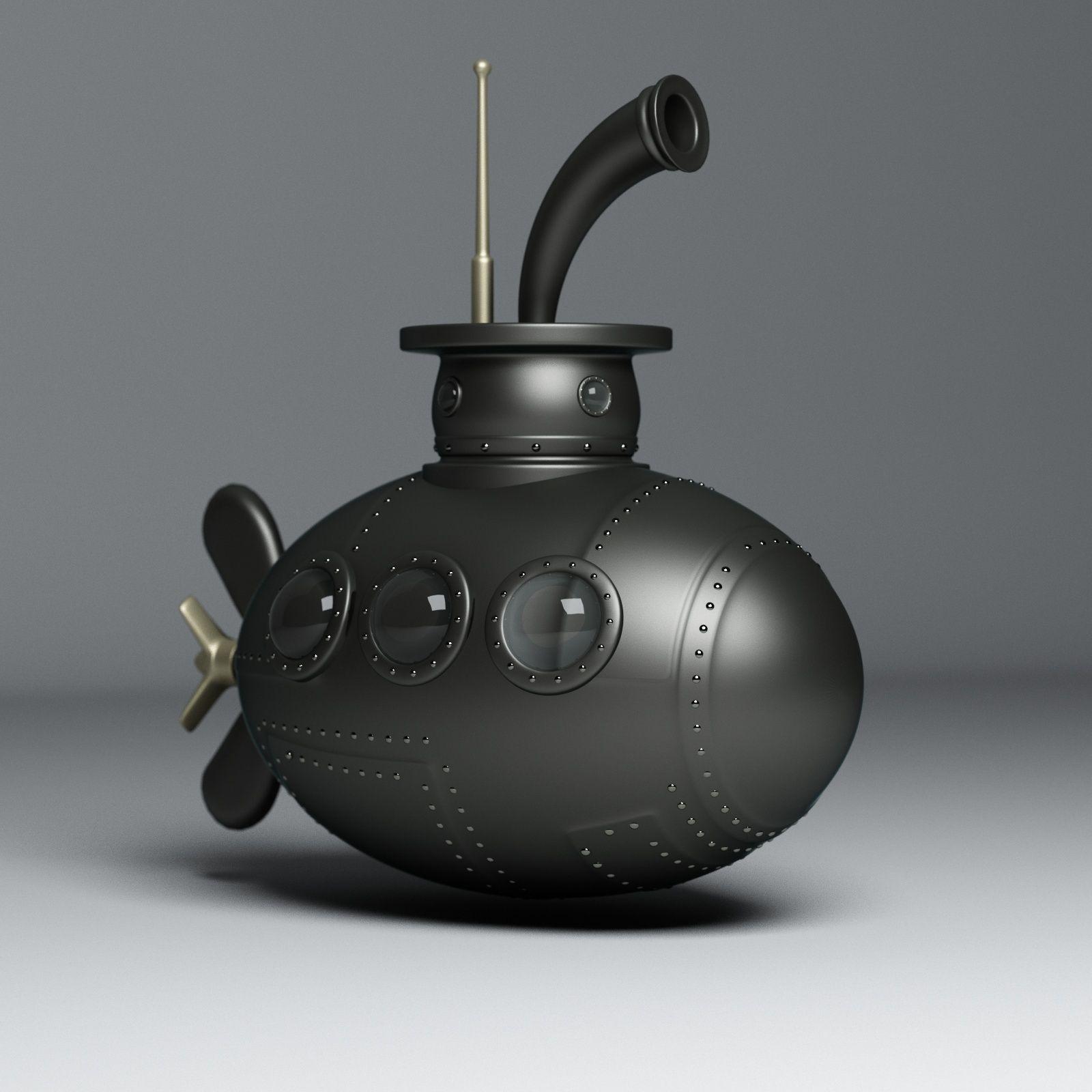 Submarine 3D Model MAX OBJ 3DS C4D MA MB STL
