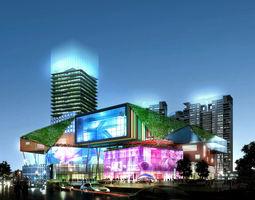 Commercial Plaza 3D building commercial