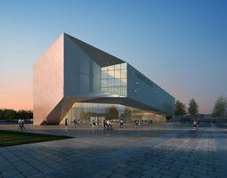 Museum Building 0001 3D Model