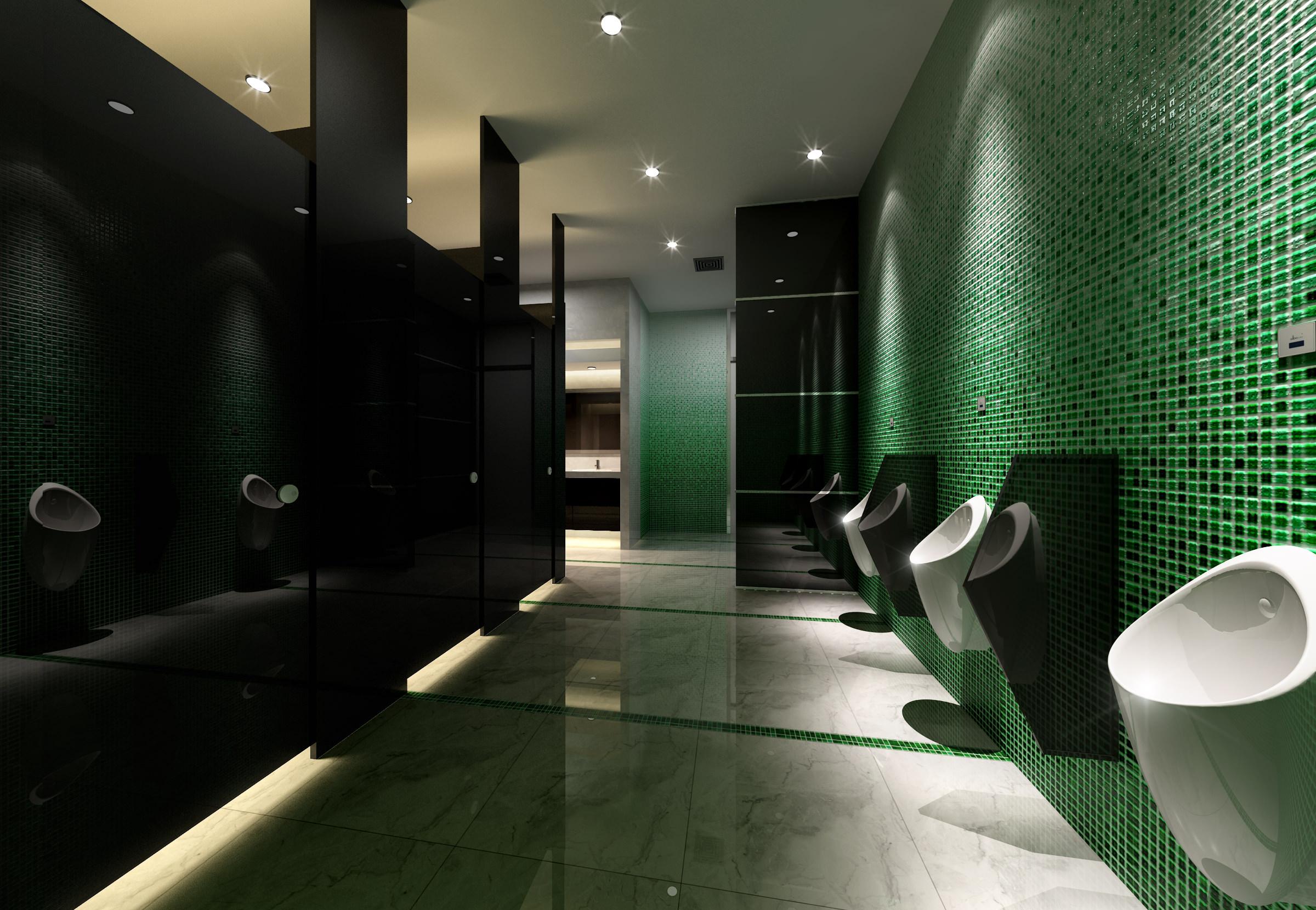Public bathroom 3d model max for Bathroom design online 3d