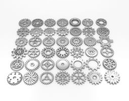 42 gears 3d asset game-ready
