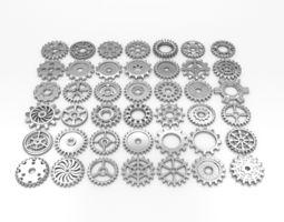 42 gears 3D Model