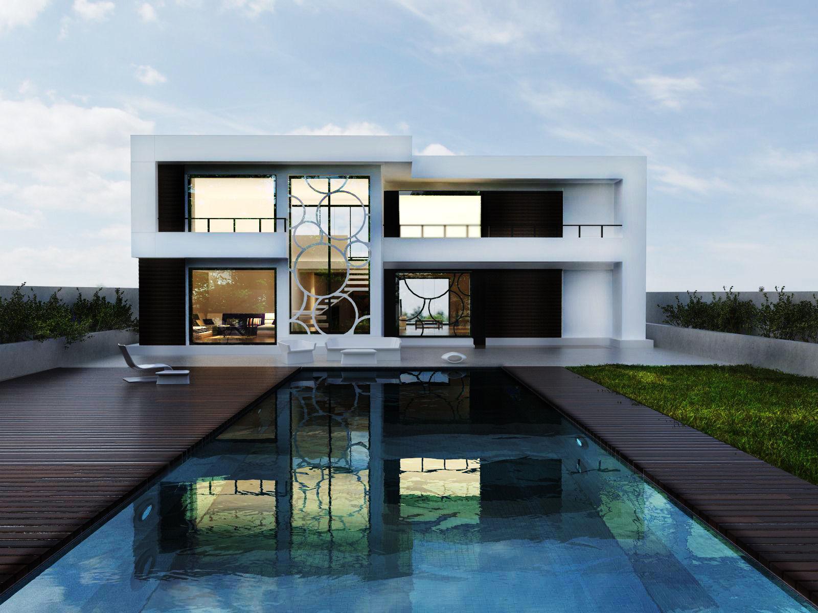 Marvelous Modern House 3d Model Skp 1 ...