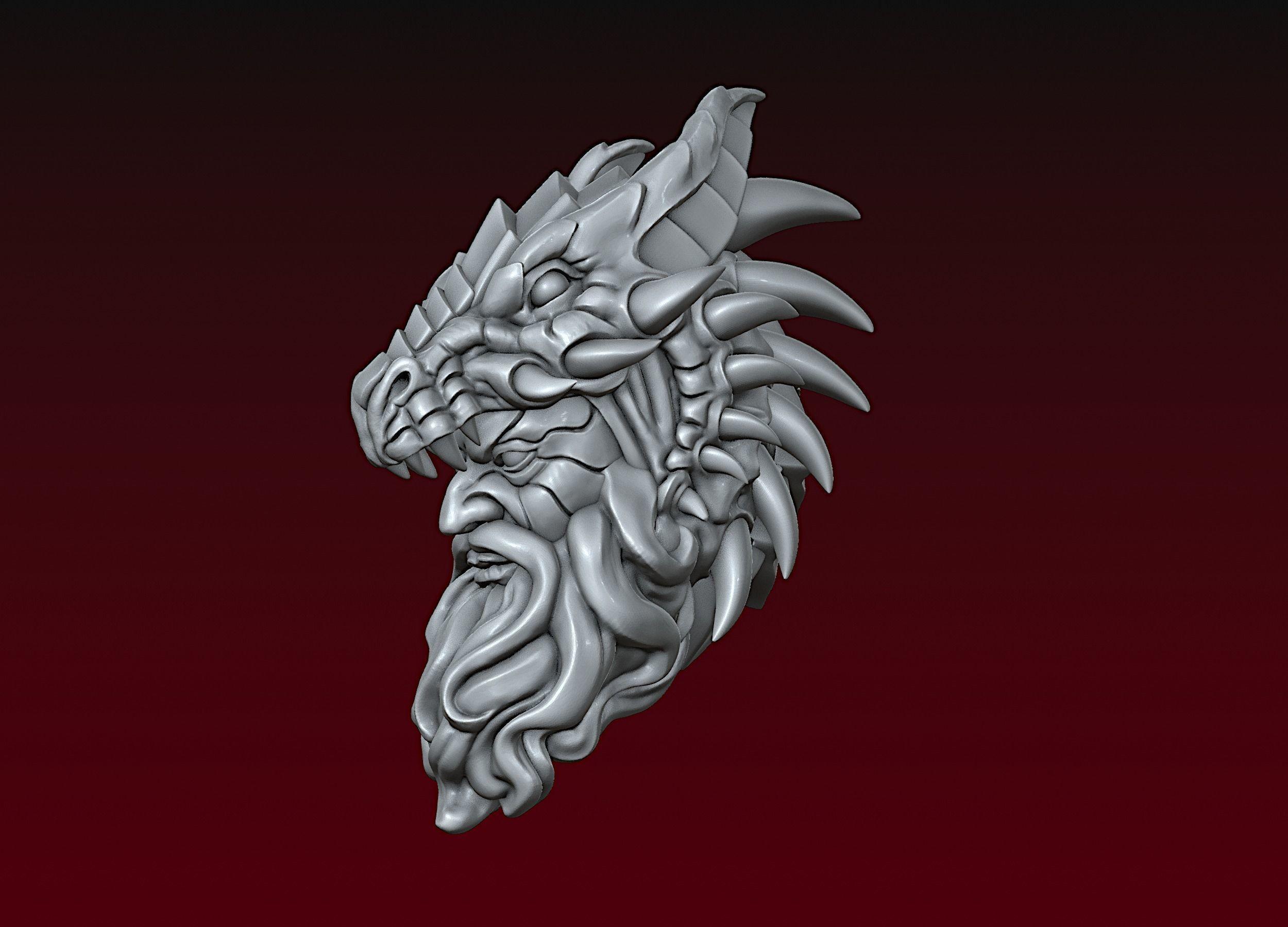Dragon spirit head