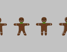 Gingerbread Cookie Pack 3D