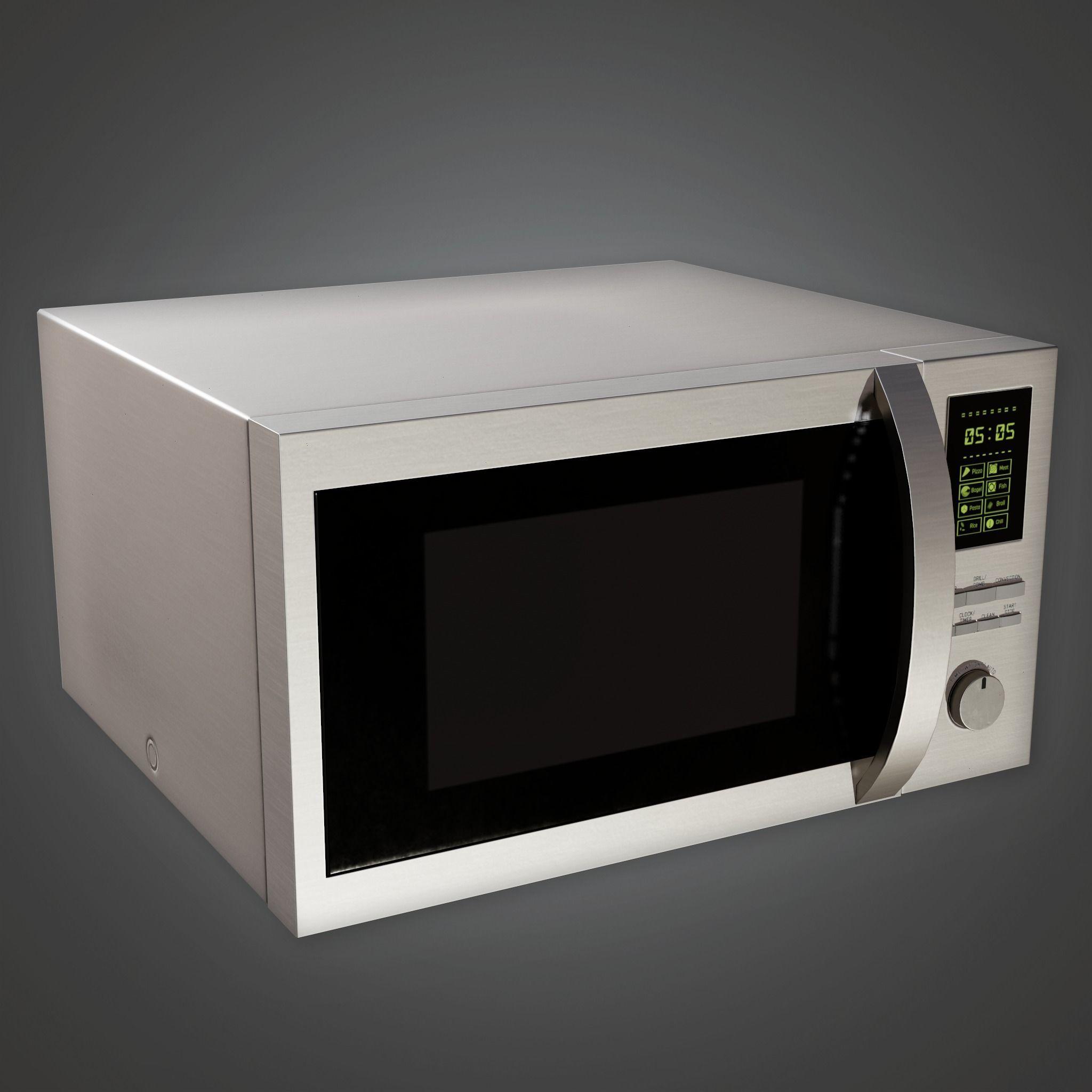 ARV2 - Modern Microwave 01 - PBR Game Ready