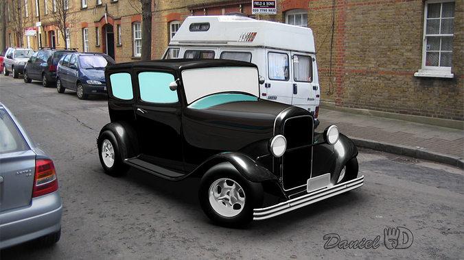 old car 1940 3d model obj mtl ma mb 1