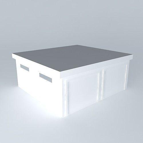 decochalet 2015 double garage 570x540 toit plat free 3d model max obj 3ds fbx stl skp. Black Bedroom Furniture Sets. Home Design Ideas