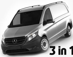 Mercedes Vito Panel Van 2016 3D Model