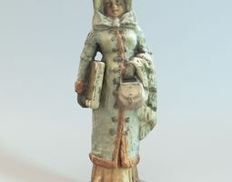 Decorative old woman statue 3D