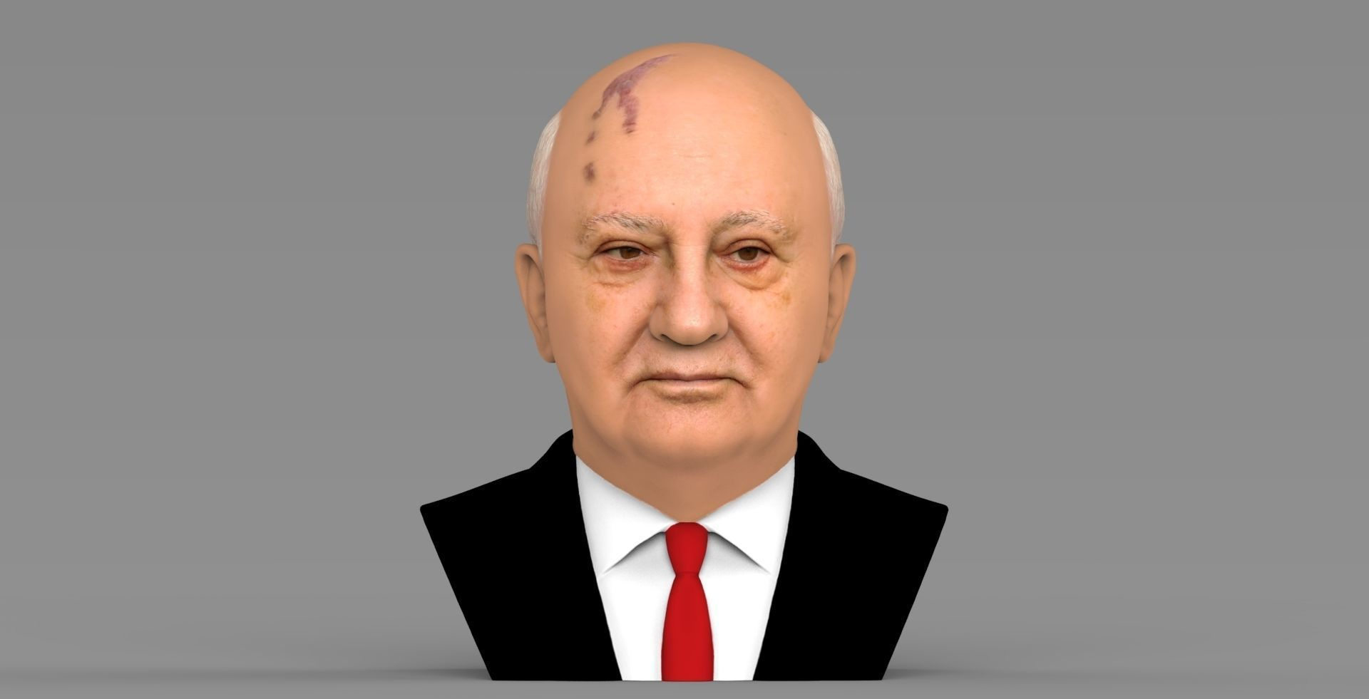 Mikhail Gorbachev bust ready for full color 3D printing