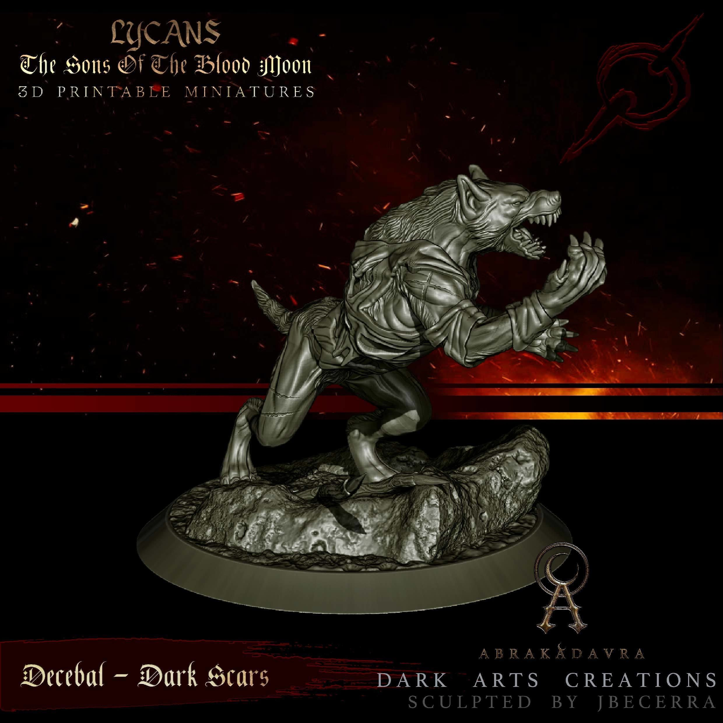 Werewolf - Lycan 4 - Sons of the Blood Moon - 3D Printable