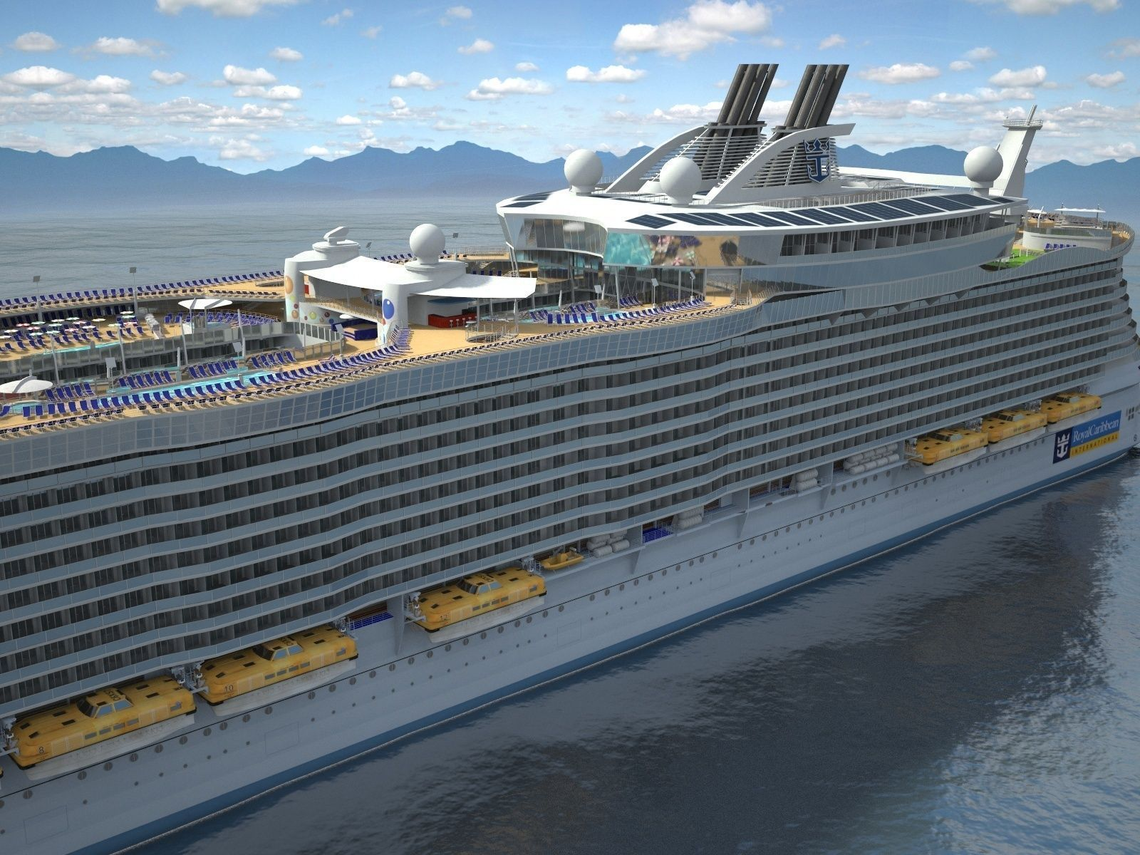 Oasis Of The Seas Cruise Ship 3D Model Max Obj 3ds Fbx