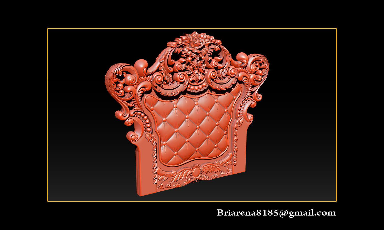 Furniture  wood carving file stl OBJ and ZTL for CNC