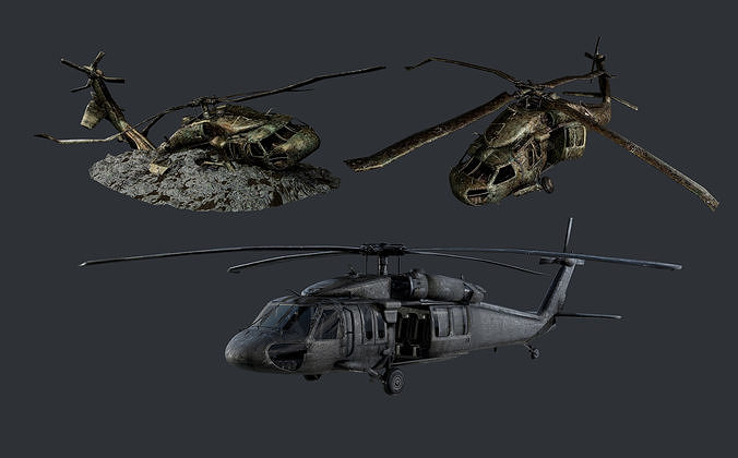 Sikorsky UH60 Black Hawk Military Helicopter Game Ready Pack 04